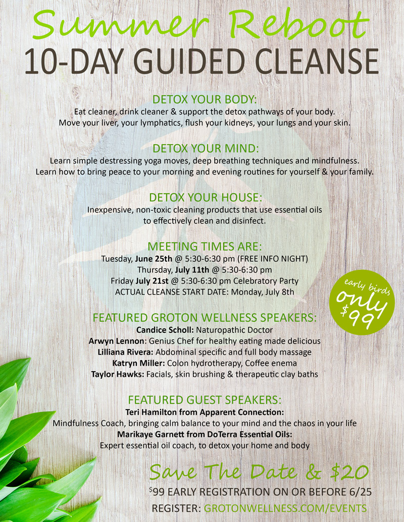 10 day guided nutritional cleanse   Groton Wellness